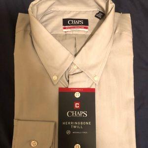 Chaps new dress shirt herringbone